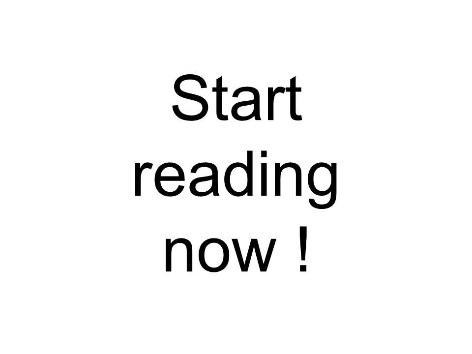 Start reading now !