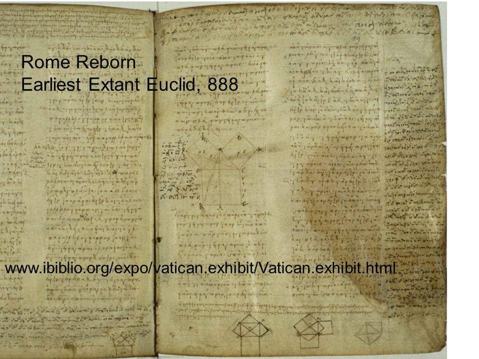 www.ibiblio.org/expo/vatican.exhibit/Vatican.exhibit.html Rome Reborn Earliest Extant Euclid, 888