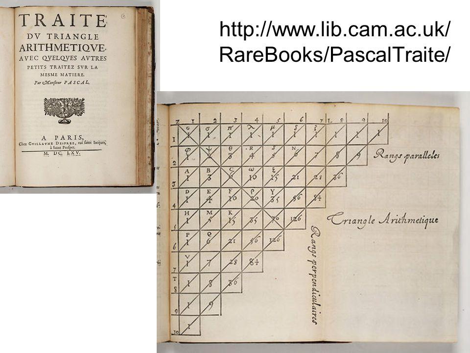 http://www.lib.cam.ac.uk/ RareBooks/PascalTraite/