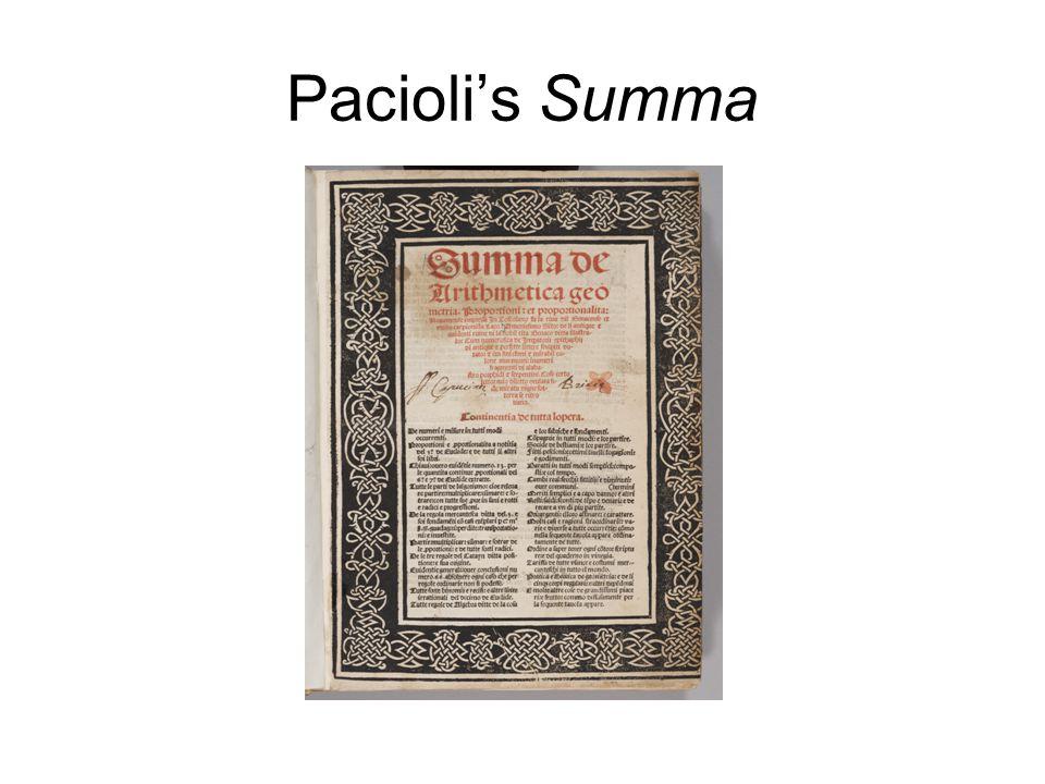 Pacioli's Summa