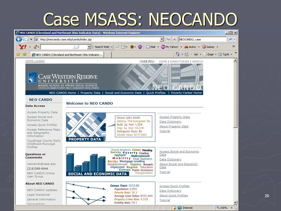 20 Case MSASS: NEOCANDO