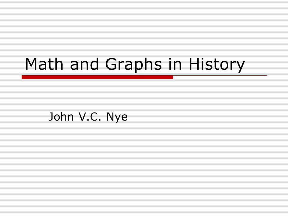 Math and Graphs in History John V.C. Nye