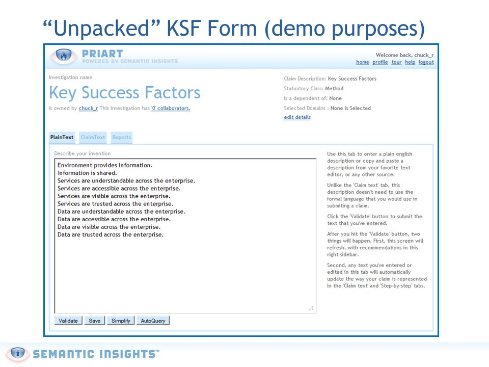 """Unpacked"" KSF Form (demo purposes)"