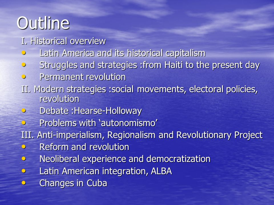 Debates on strategies Change the world and take the power (Hearse- Holloway): starts with the Chiapas Revolution of 1994 and Zapatismo Change the world and take the power (Hearse- Holloway): starts with the Chiapas Revolution of 1994 and Zapatismo Read: State and revolution (Lenin, 1917) and The damned of the Earth (Franz Fanon,1961) Read: State and revolution (Lenin, 1917) and The damned of the Earth (Franz Fanon,1961) Academic level: postmodernism versus amodernism Academic level: postmodernism versus amodernism Autonomism versus revolutionary socialism; Read: Los problemas del autonomismo (problems of autonomism) by Claudio Katz Autonomism versus revolutionary socialism; Read: Los problemas del autonomismo (problems of autonomism) by Claudio Katz