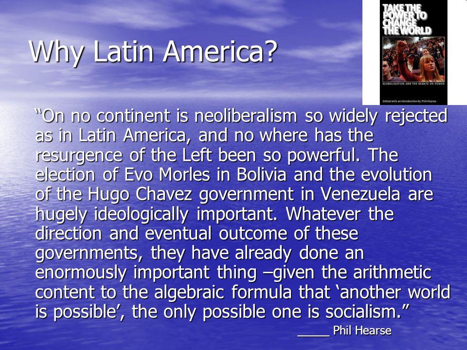 Why Latin America.