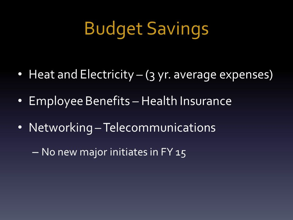 Budget Savings Heat and Electricity – (3 yr.
