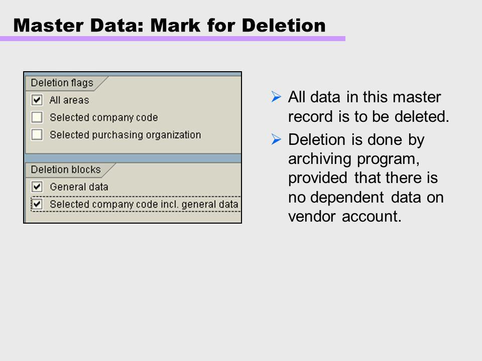 Master Data: Intercompany