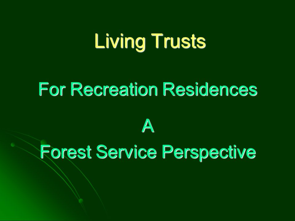 Beneficiaries The division of the ownership of the recreation residence into shares may result in not having a qualified holder for the special use permit.