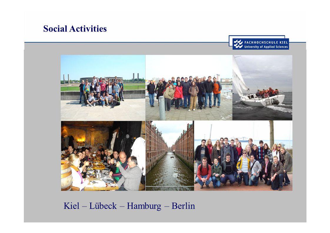 Social Activities Kiel – Lübeck – Hamburg – Berlin