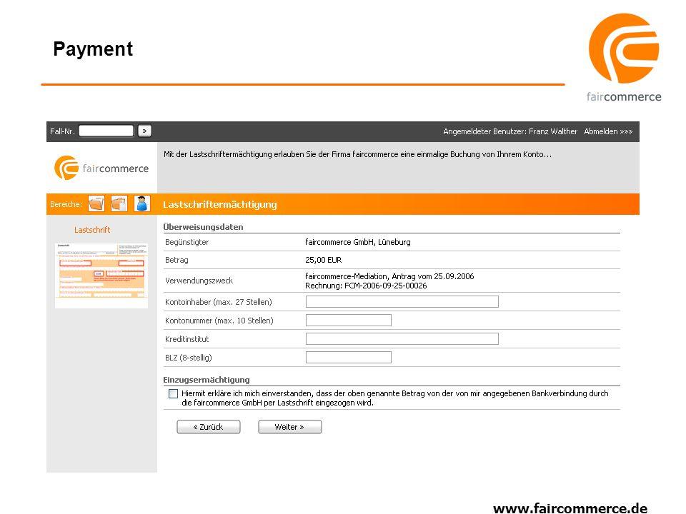 www.faircommerce.de Payment