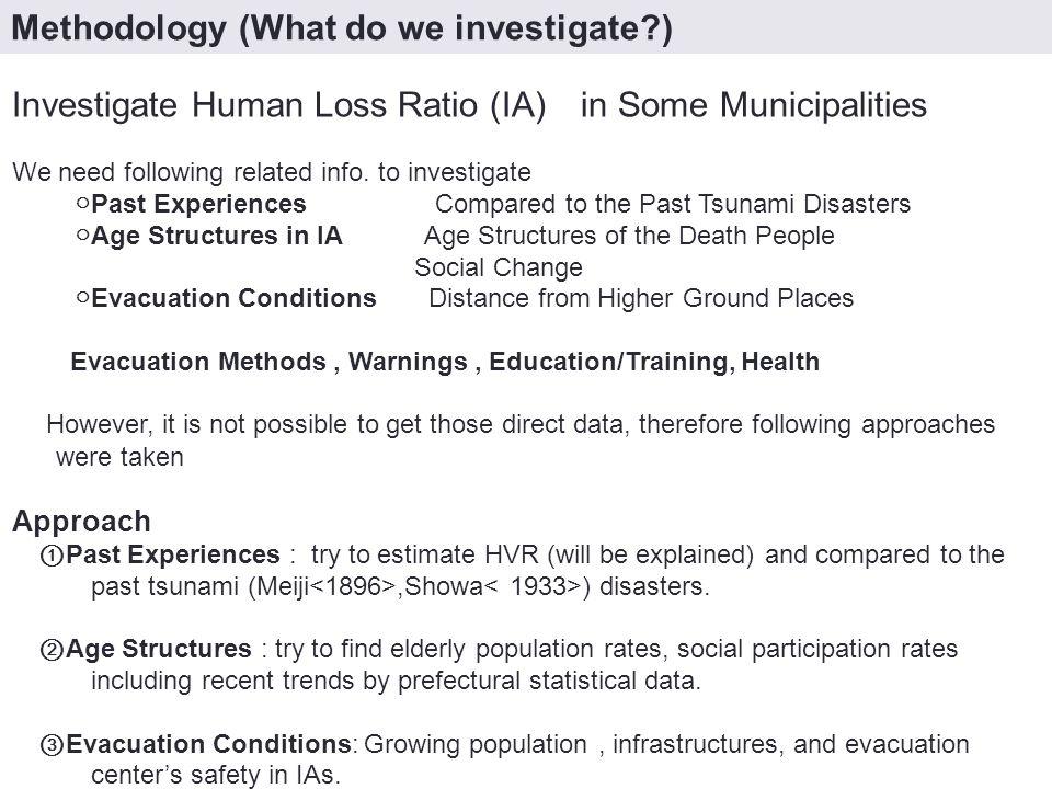 陸前高田 市街地の変化 2000 年 1913 年 1933 年 1968 年 1952 年 1960-1966 Tsunami Project Approaches ③ Evacuation Conditions