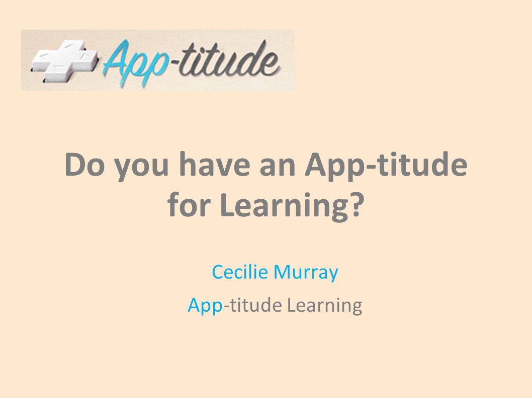 Why Apps for Learning.