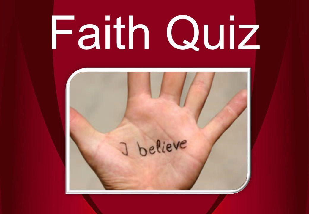 Faith Quiz