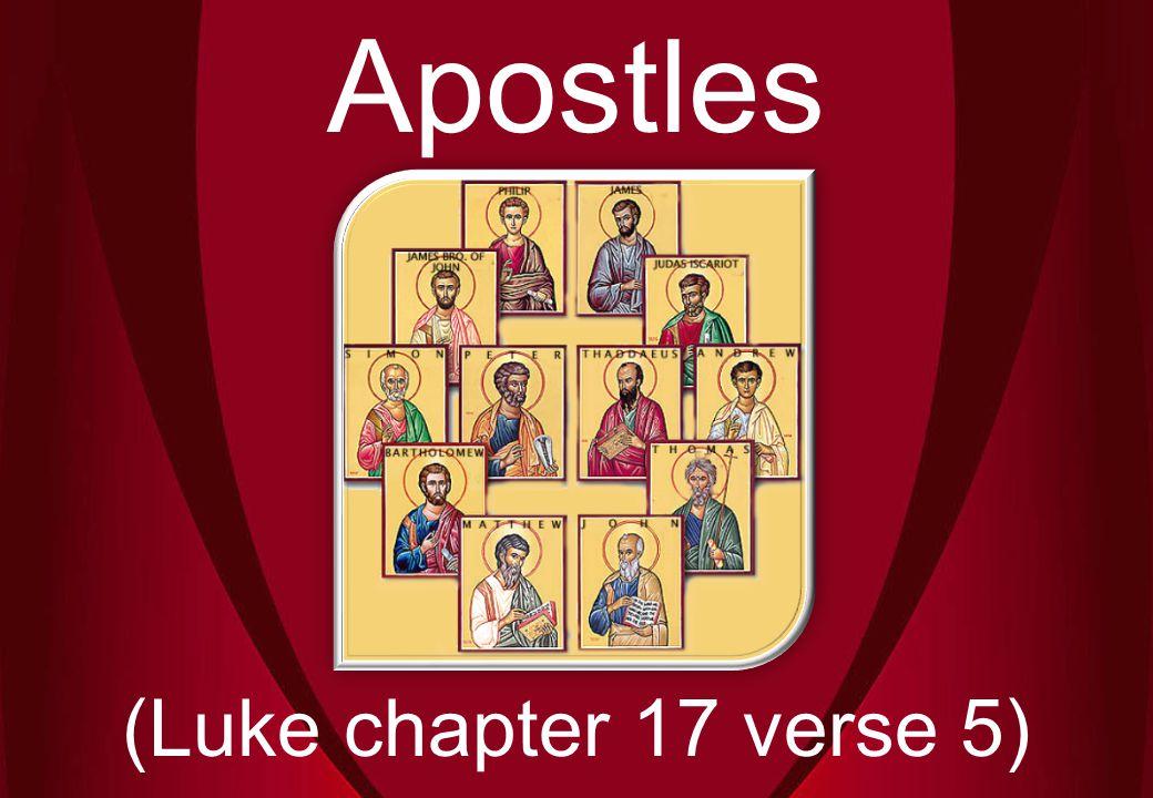 Apostles (Luke chapter 17 verse 5)