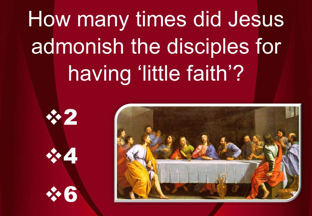 246246 How many times did Jesus admonish the disciples for having 'little faith'