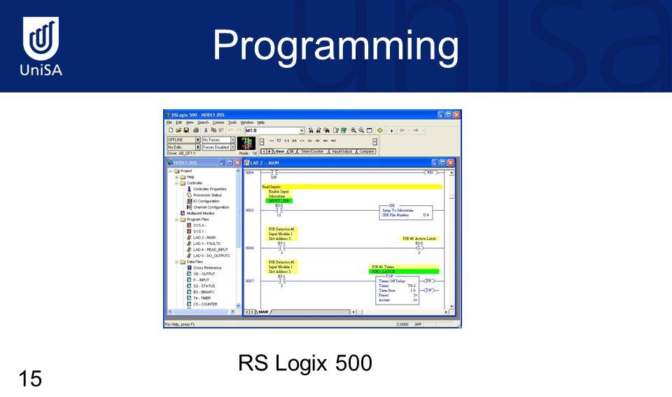 Programming RS Logix 500 15
