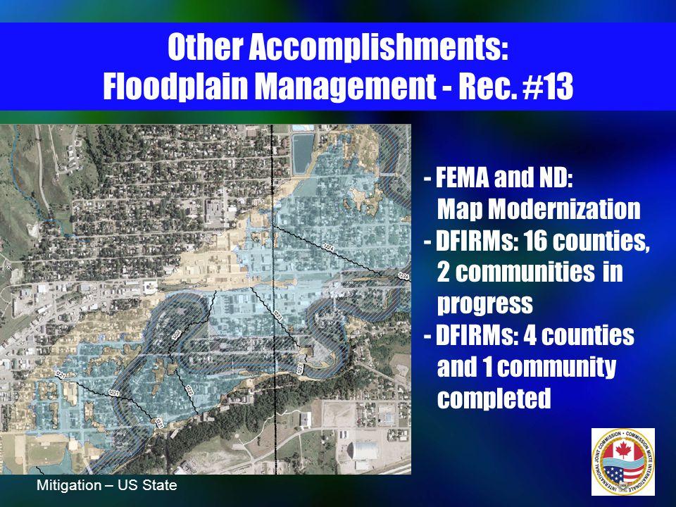 Other Accomplishments: International Cooperation - Rec.