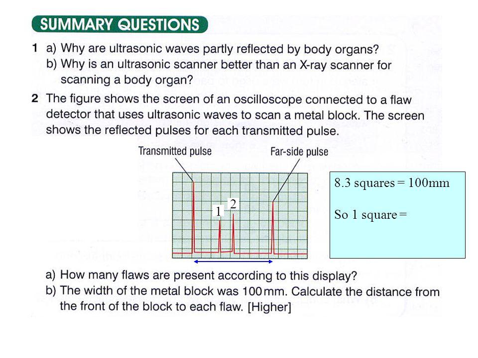 2 8.3 squares = 100mm So 1 square = 1