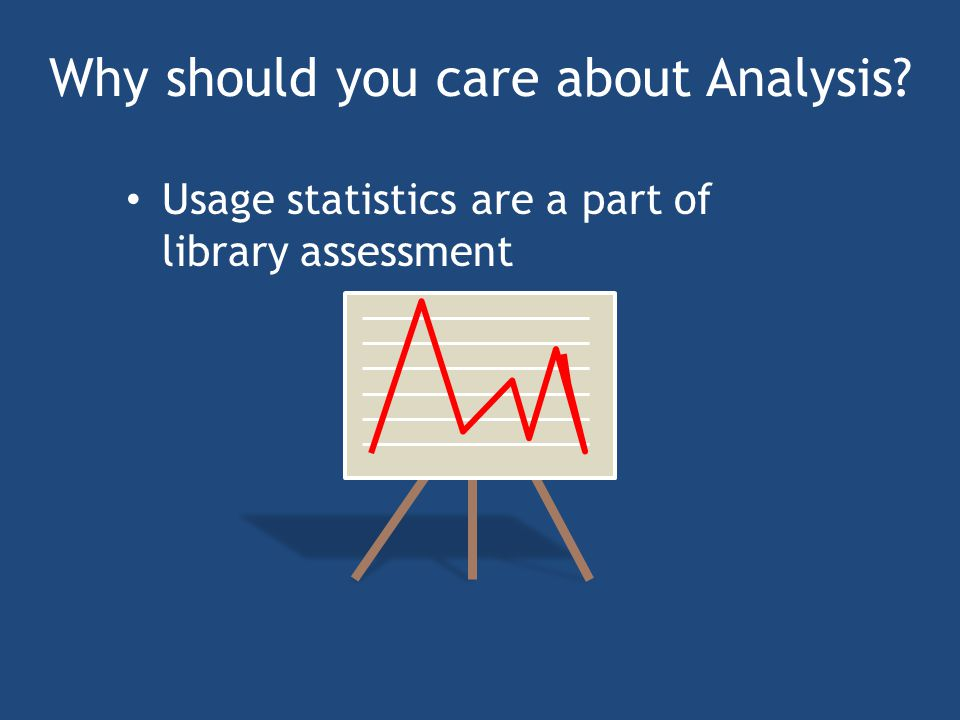 Why should you care about Analysis Usage statistics are a part of library assessment