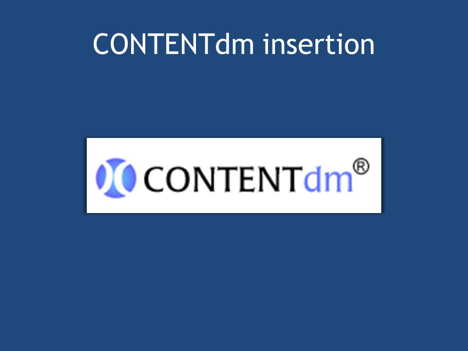 CONTENTdm insertion