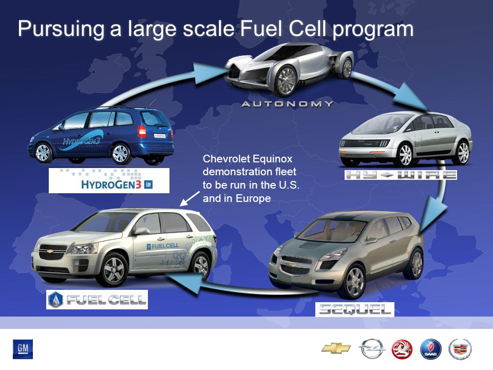 Multibrand-Event Pursuing a large scale Fuel Cell program Chevrolet Equinox demonstration fleet to be run in the U.S.