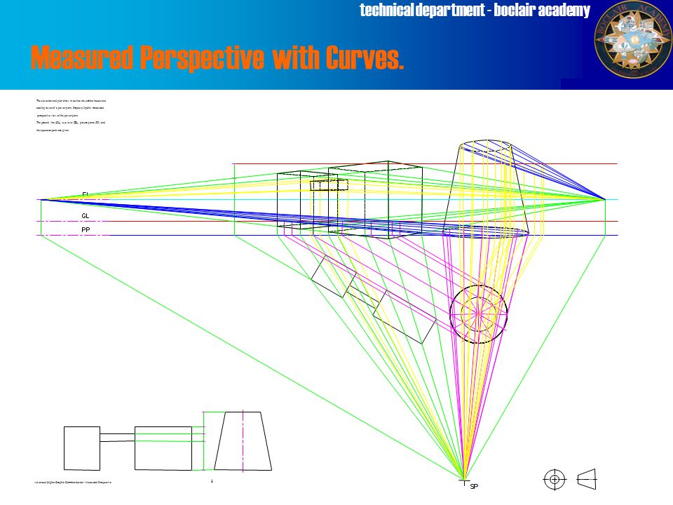 technical department - boclair academy Measured Perspective with Curves.