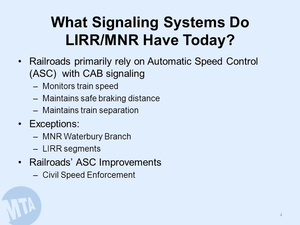 Current MNR Cab Signal System 5