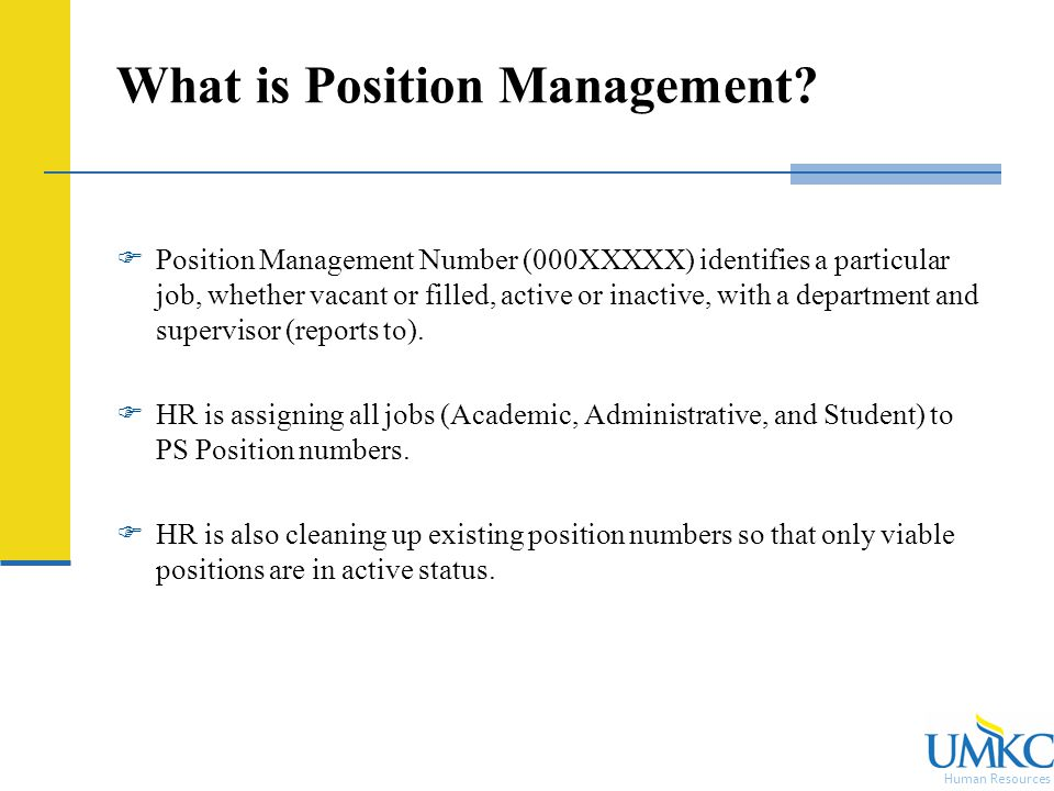 Human Resources What is Position Management.