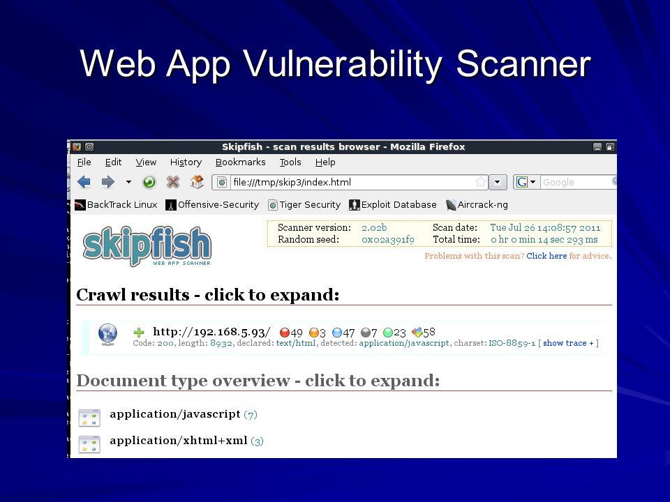 Web App Vulnerability Scanner