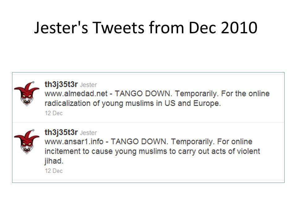 Jester's Tweets from Dec 2010