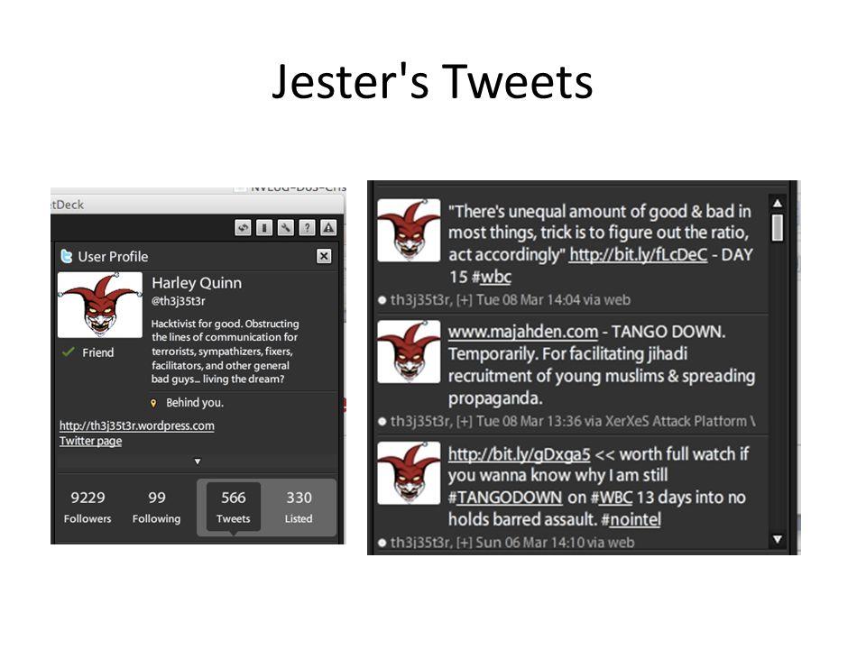 Jester's Tweets