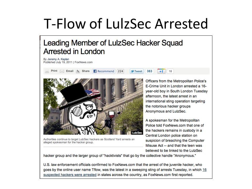 T-Flow of LulzSec Arrested