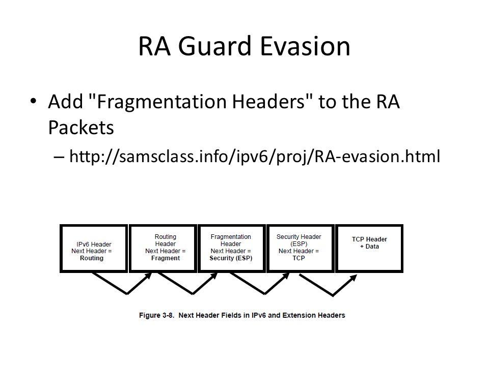 RA Guard Evasion Add