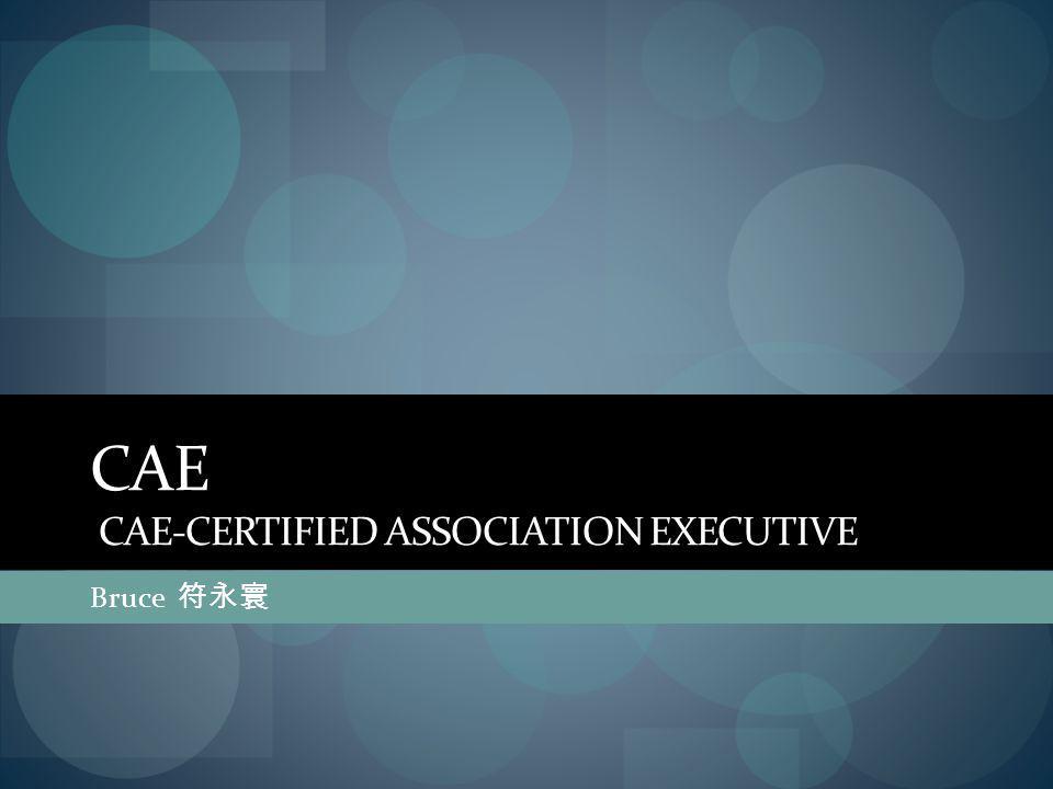 CAE CAE-CERTIFIED ASSOCIATION EXECUTIVE Bruce 符永寰