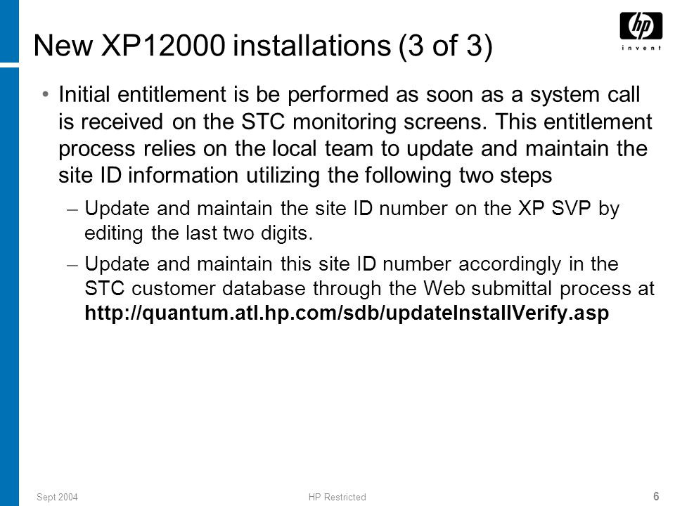 Sept 2004HP Restricted 37 Lab activity