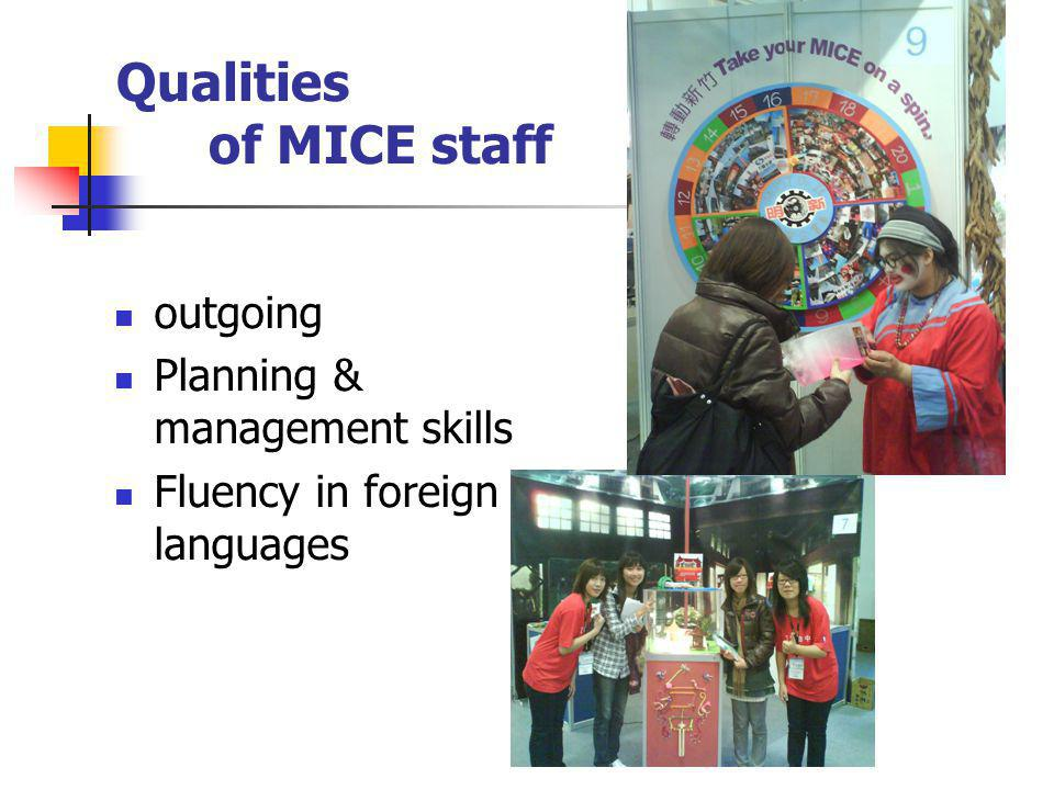 The Specific Skills Forigen Companies are Looking For Ability to speak several languages  English is just a plus Excellent knowledge of other cultures  To understand customer s expectations True interest in the MICE business  For more efficiency