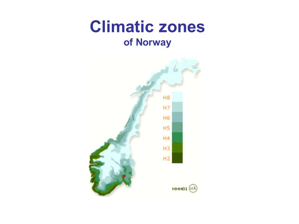 Climatic zones of Norway