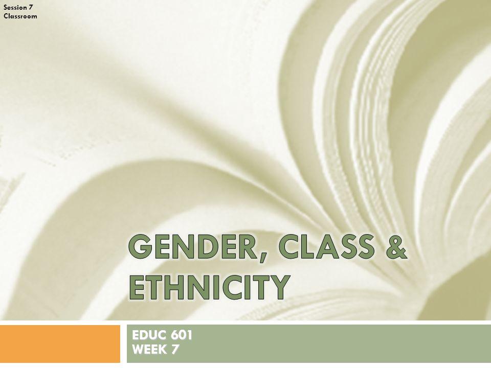 Session 7 Classroom EDUC 601 WEEK 7