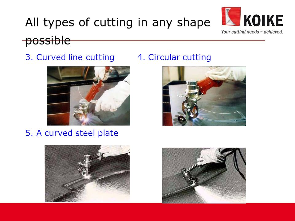 All types of cutting in any shape possible 3.Curved line cutting 4.