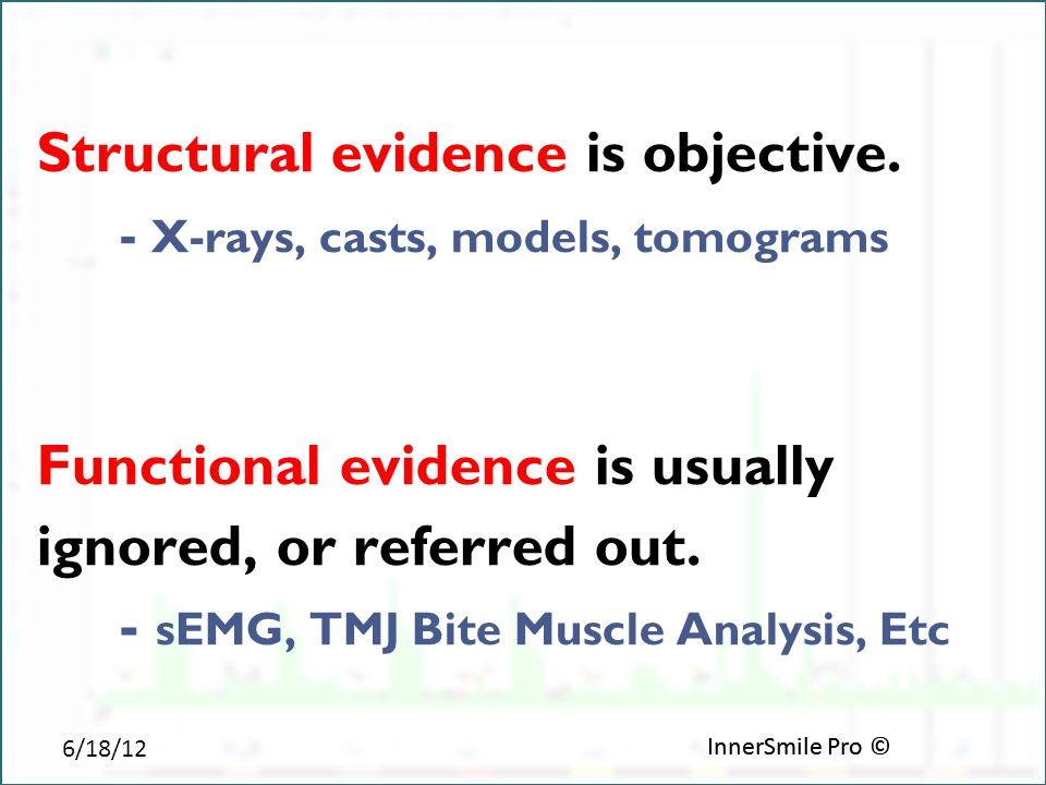 6/18/12 InnerSmile Pro © Structural evidence is objective.