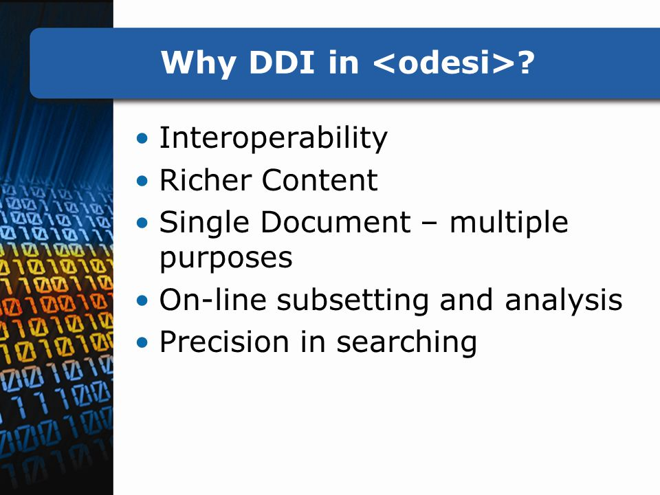 Why DDI in .