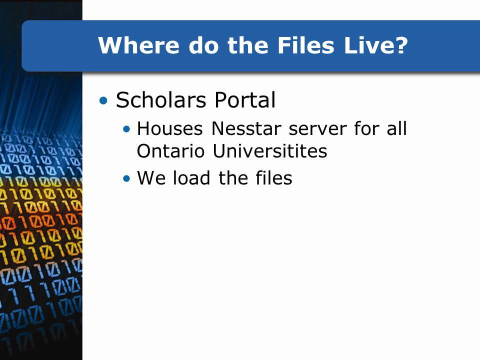 Where do the Files Live.