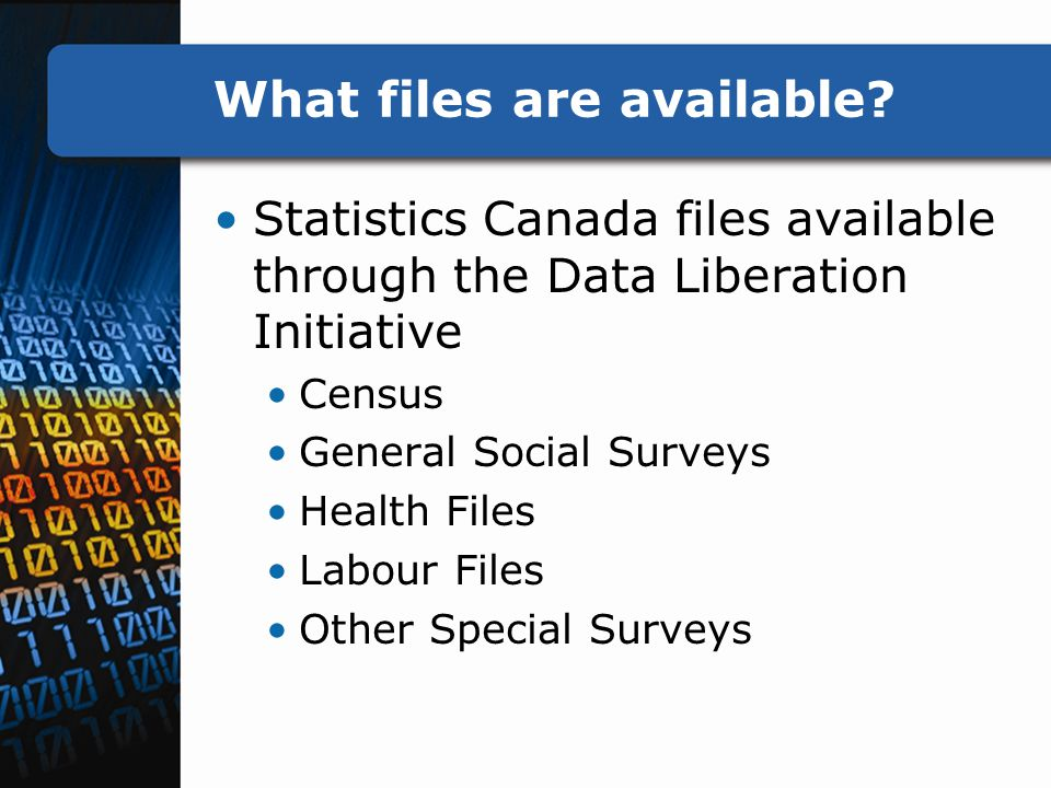What files are available.