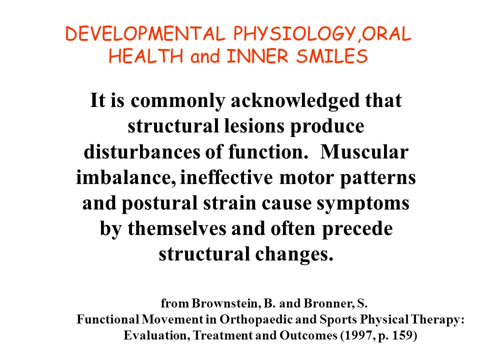 It is commonly acknowledged that structural lesions produce disturbances of function.