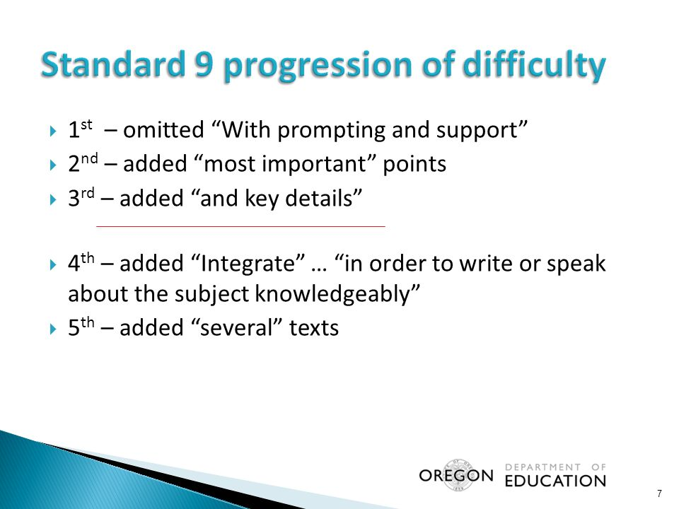  Identify grade-specific standards that are new at your grade(s) or represent a new emphasis in classroom instruction at your grade(s).