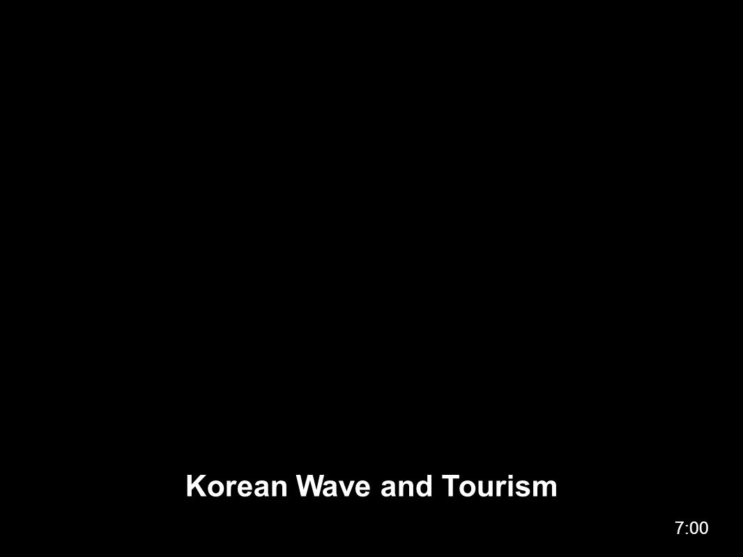 Korean Wave and Tourism 7:00