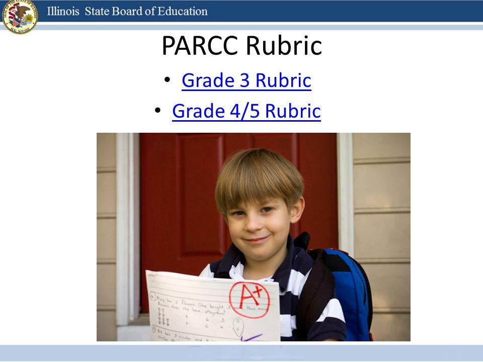 PARCC Rubric Grade 3 Rubric Grade 4/5 Rubric