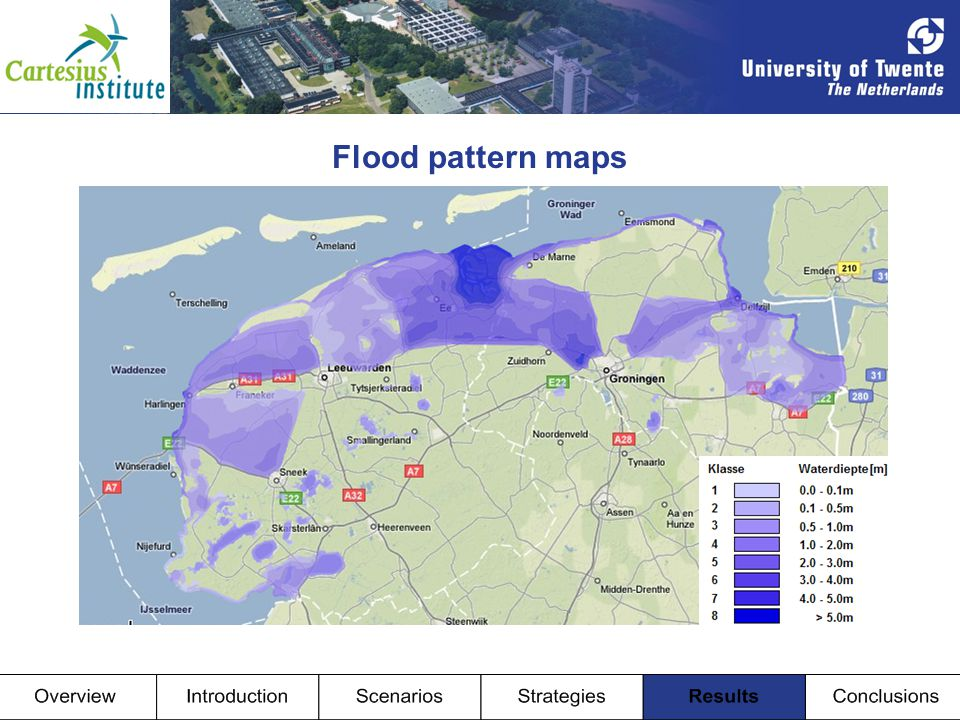 Flood pattern maps