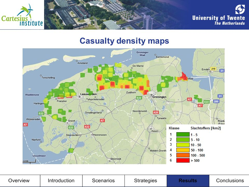 Casualty density maps Casualties