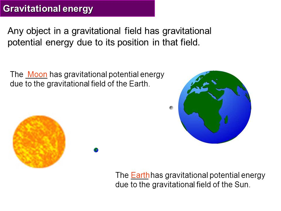 Changes in gravitational potential energy For an object in Earth's gravitational field: If an object falls will it gain or lose gravitational potential energy.